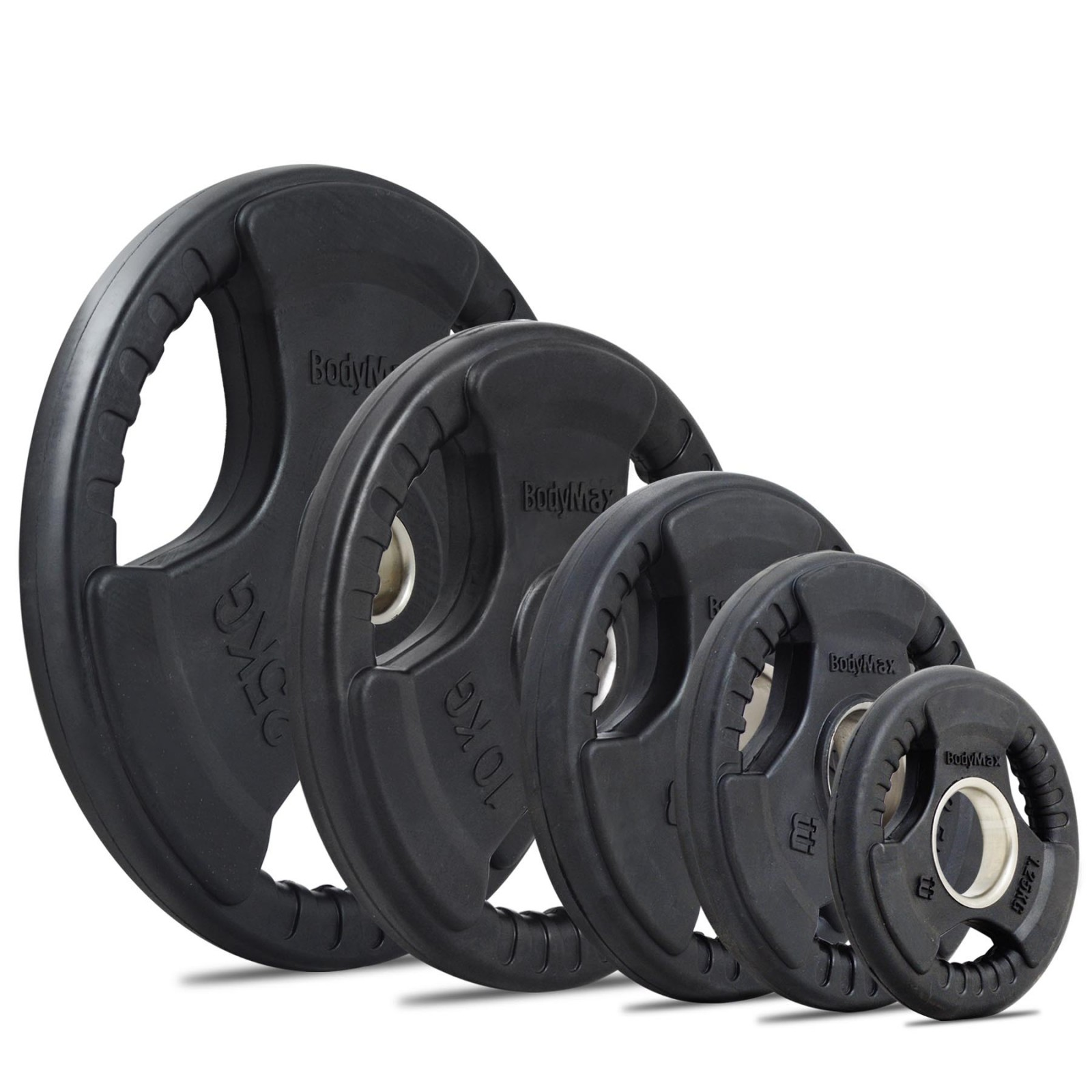 Bodymax Olympic Rubber Radial Tri Grip Weight Plates